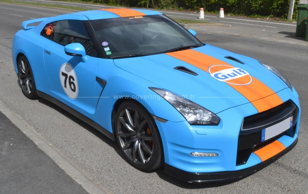 Covering type GULF Nissan GTR