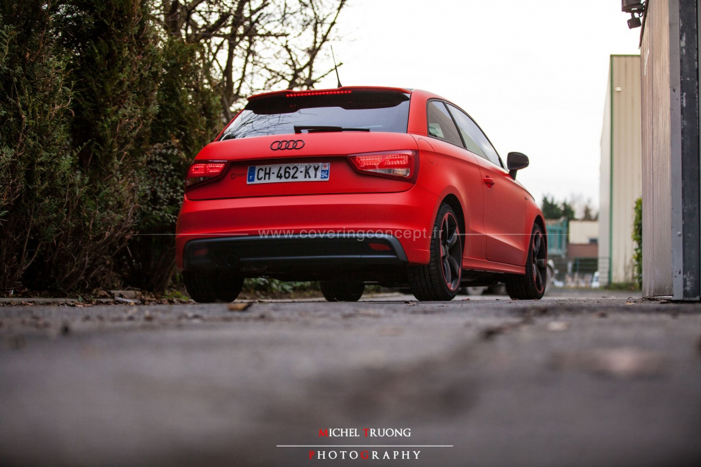 Audi A1 covering rouge mat Hotrod.