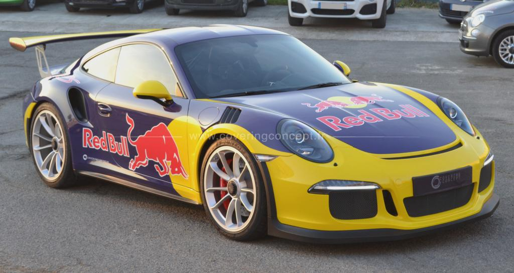 Covering 991 GT3 RS Red bull