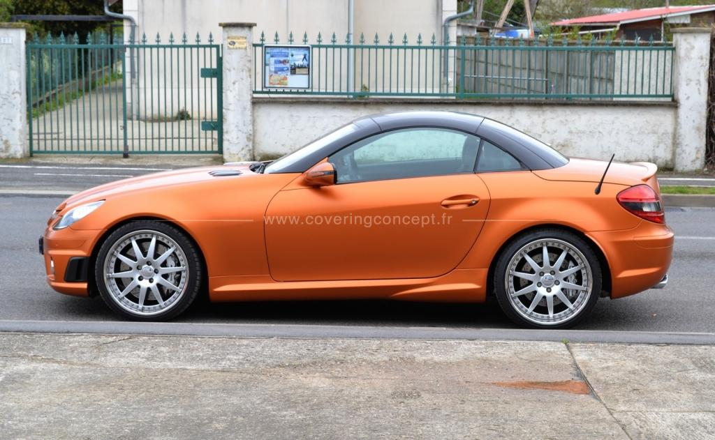 MERCEDES SLK 55 AMG covering canyon copper