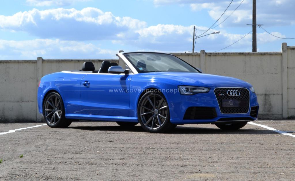 AUDI RS5 Cabriolet covering bleu brillant