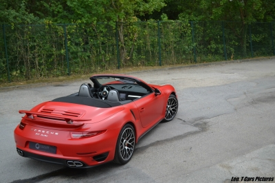Porsche 991 turbo covering rouge satiné