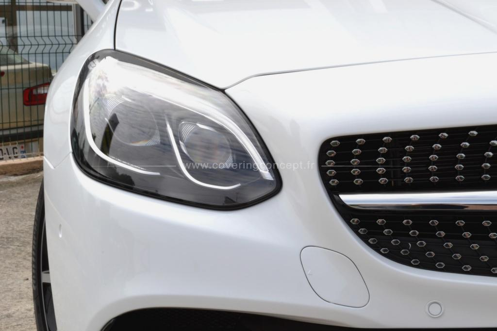 MERCEDES SLC AMG covering blanc brillant